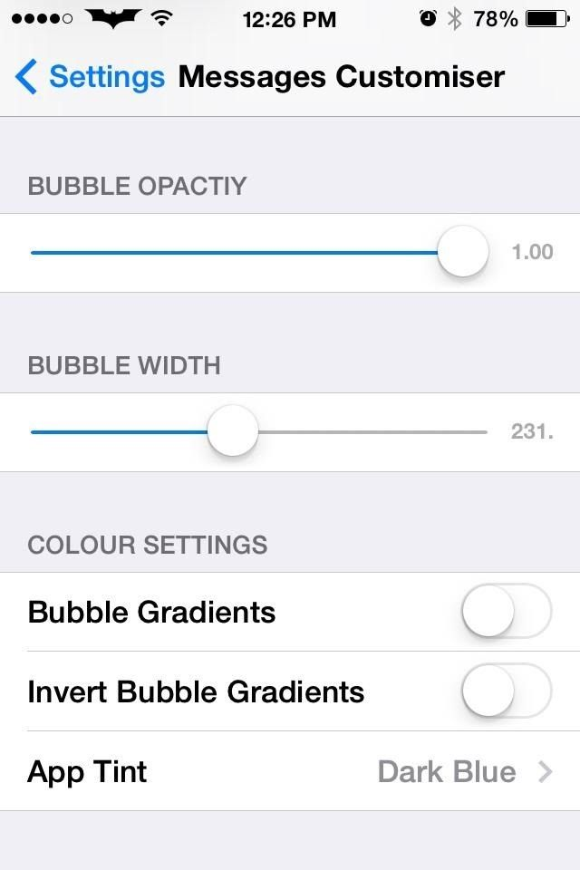 Как настроить приложение для iOS 7's Message Bubbles to Use Whatever Colors You Want