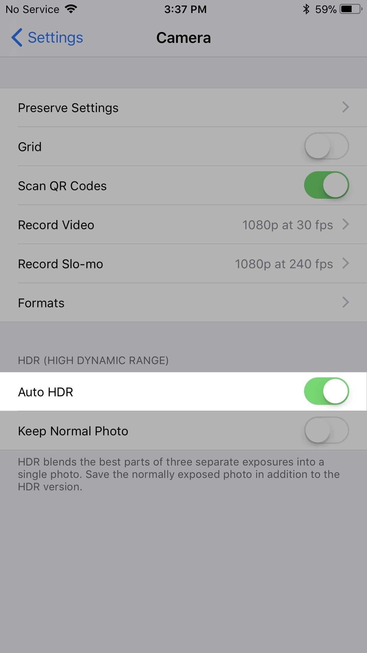 Как вернуть камеру's Missing HDR Button on Your iPhone 8 or 8 Plus