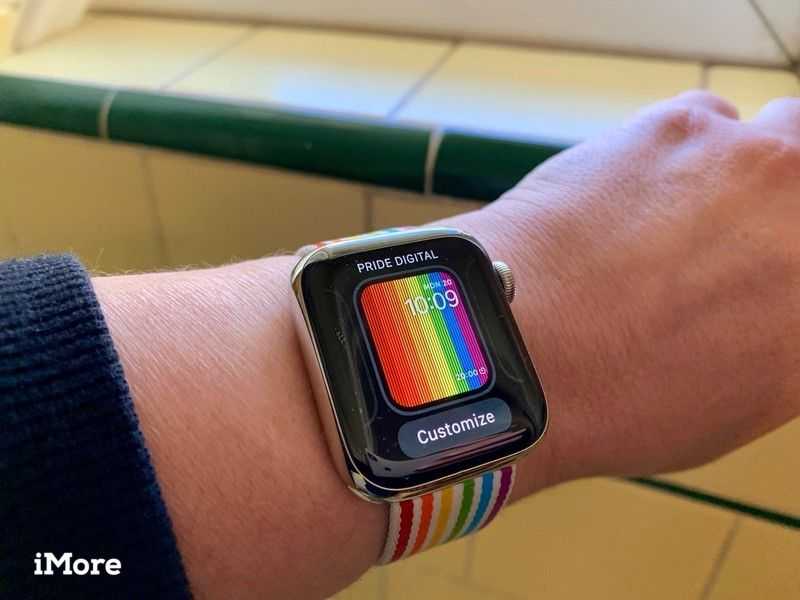 Apple Watch с настройкой для циферблата