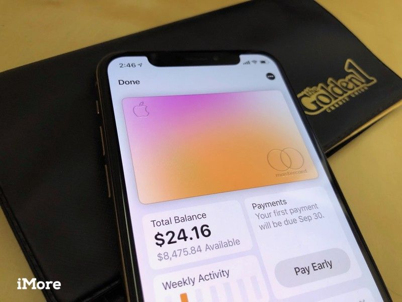 Apple Card на iPhone XS