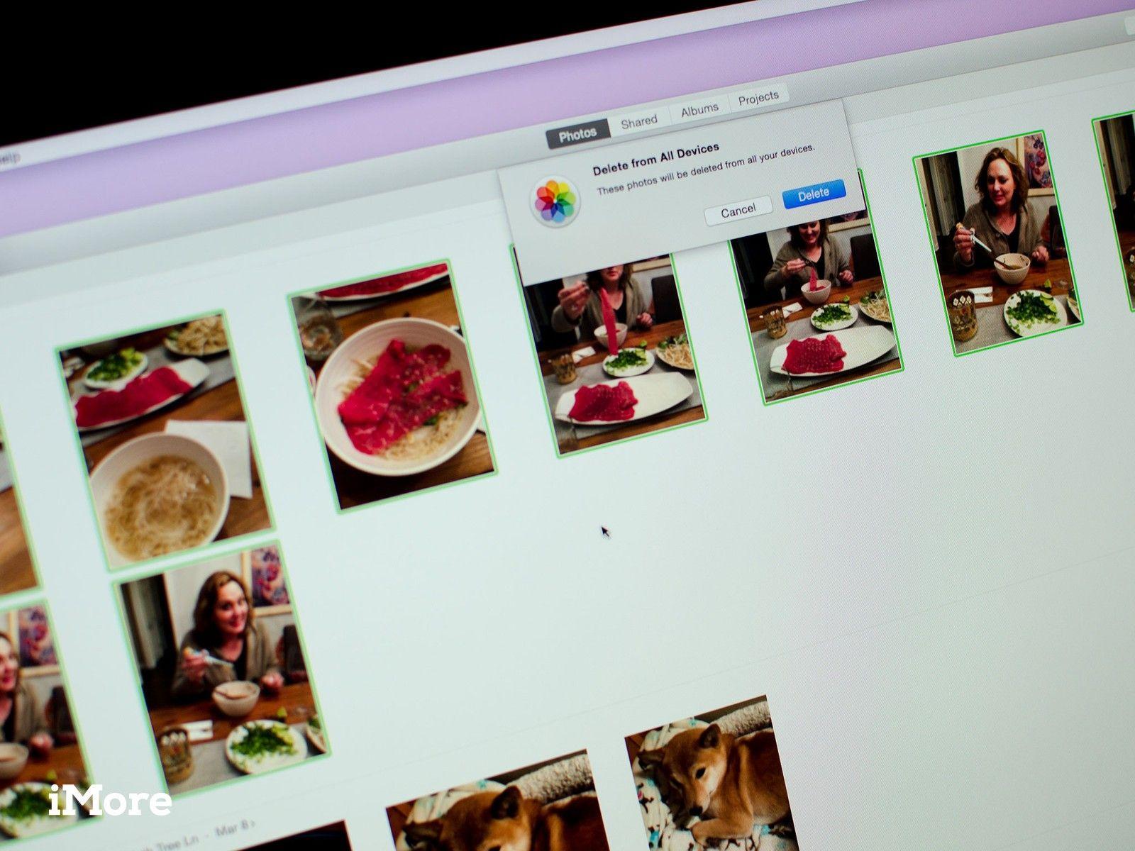как удалить несколько фото в макбуке самом